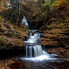 Autumn Waterfall at Rickett's Glen State Park, PA 11/5/18
