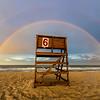 Double Rainbow Over Lifeguard Chair on Ocean Grove Beach 07/01/17