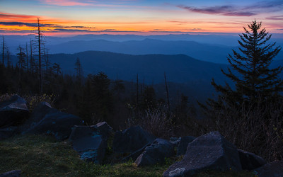 Break of Dawn from Clingman's Dome in the Great Smoky Mountains National Park