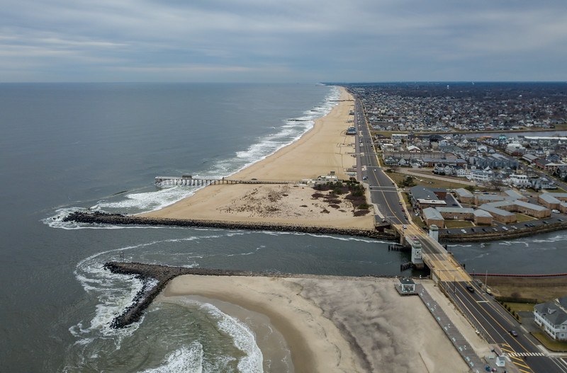 Shark River Inlet Looking South to Belmar 2/26/18