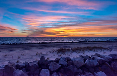 Predawn Colors Over Sandy Hook Beach 11/4/17