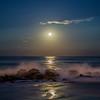 Moon Rise Over Jetty, Ocean Grove, NJ