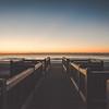 Sunrise over Myrtle Beach Boardwalk