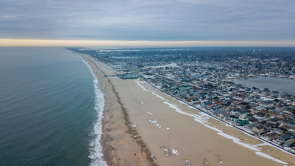 Point Pleasant Beach Looking South 1/11/18