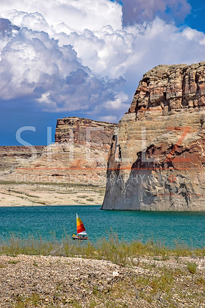 Setting Sail - Lone Rock, Utah