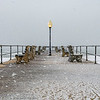 A Snowy Scene On Ocean Grove Pier 2/7/21