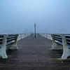 Foggy Morning on Pier, Ocean Grove, NJ
