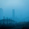 Foggy Morning Looking to Asbury Park, Ocean Grove, NJ