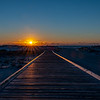 Sunrise Over Beach Walkway in Island Beach State Park 2/17/19