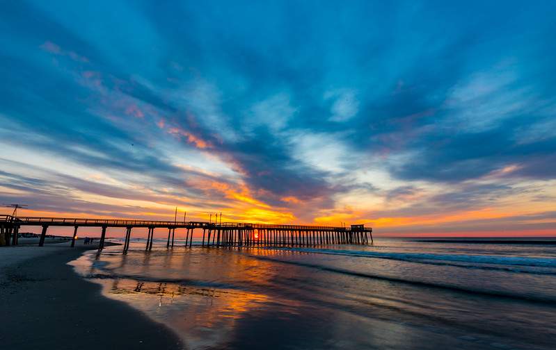 Sunrise Over Avalon Pier 8/13/17