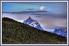 Moon over Tetons