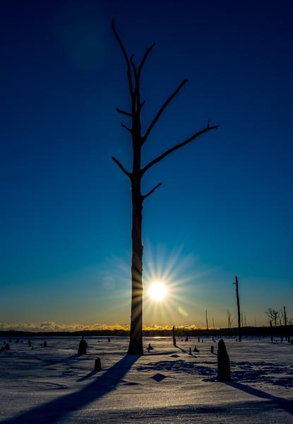 Frigid Sunrise at Manasquan Reservoir 1/6/18