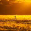 Sea Smoke Over Ocean Buoy During Frigid Sunrise 1/31/19