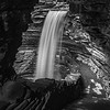 A Black & White Shot of Central Cascade Waterfall in Watkins Glen State Park, NY 10/16/17