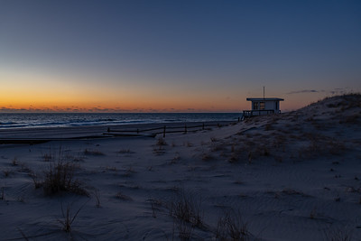 Predawn Colors Over Lifeguard Station in Island Beach State Park 2/17/19