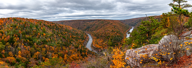 A Scenic Panoramic View Of Lehigh River Gorge, PA 10/18/19