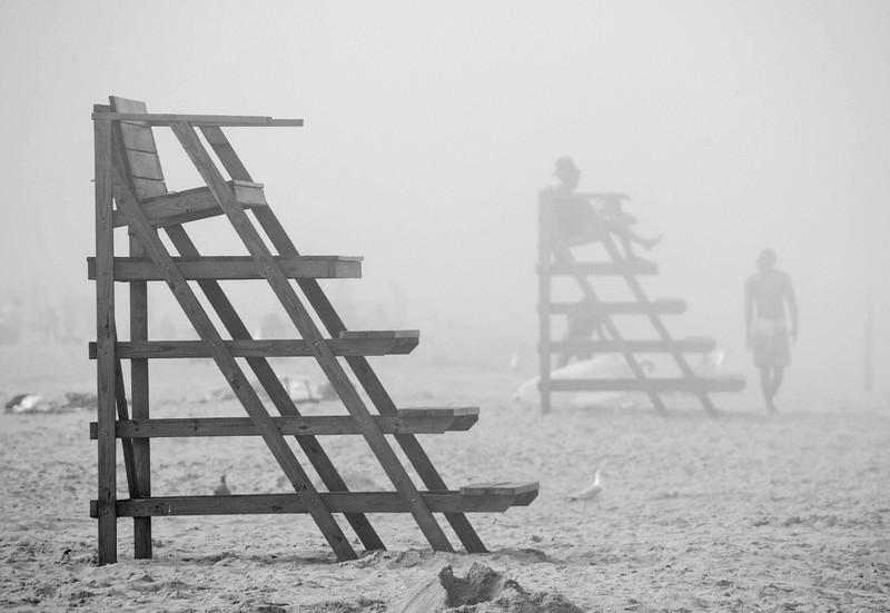 Foggy Beach, Ocean Grove, NJ