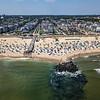 An Aerial View Of Ocean Grove Beach & Pier 8/25/21