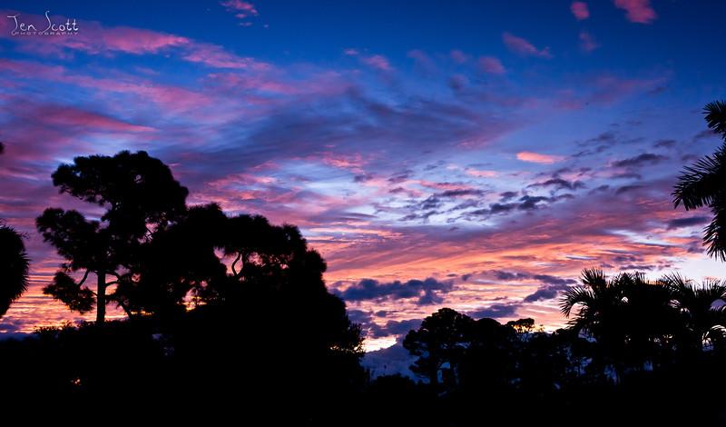 Pink & Blue Sunrise
