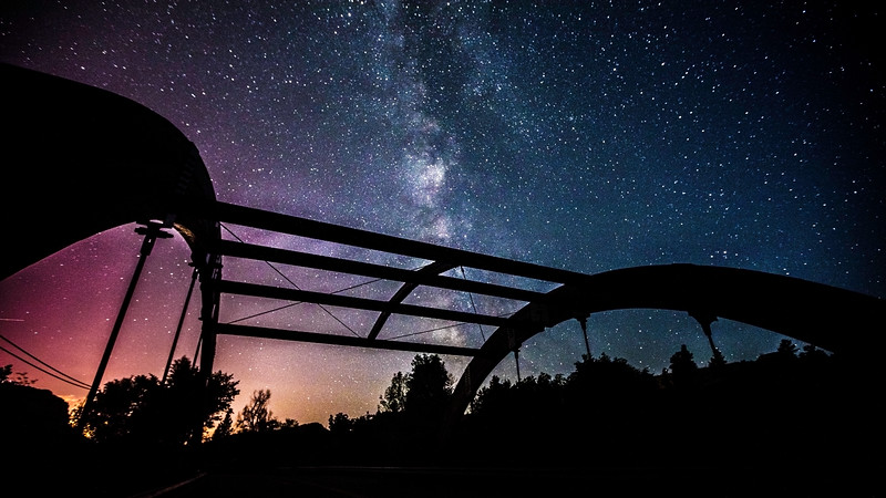 Joshua D Weiss Fine Art Photography of Milky Way from Apple Valley Rd. Bridge in Lyons Colorado