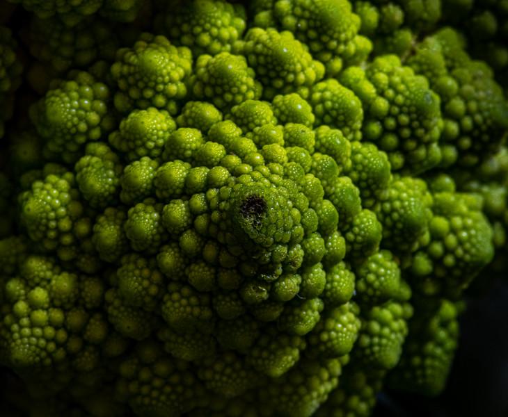 A Macro Shot Of Romanesco Broccoli 2/15/20