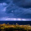 A Storm Cell Over The Ocean Illuminated By Lightning 7/31/20