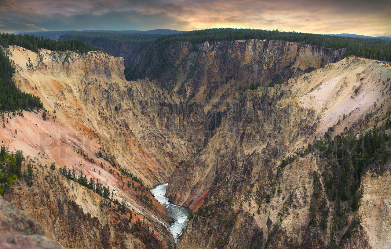 Large Canyon at Yellowstone