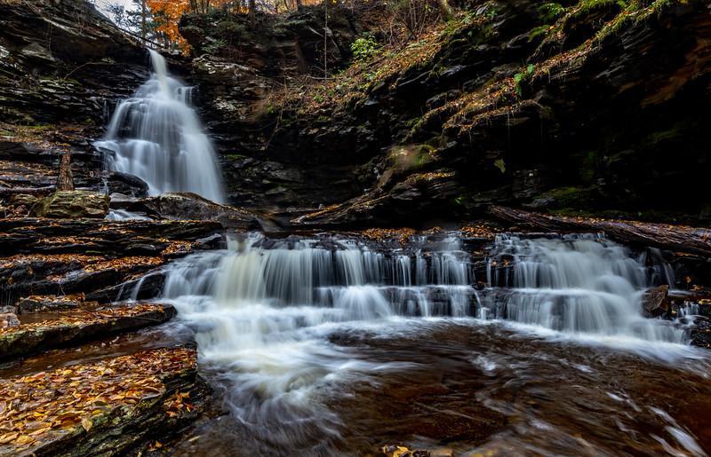 Autumn Waterfall at Rickett's Glen State Park, PA 11/5/18