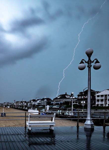 Lightning Over Avon-by-the-Sea Boardwalk 8/19/19
