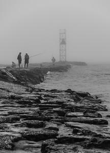 Foggy Morning at Shark River Inlet 10/10/18