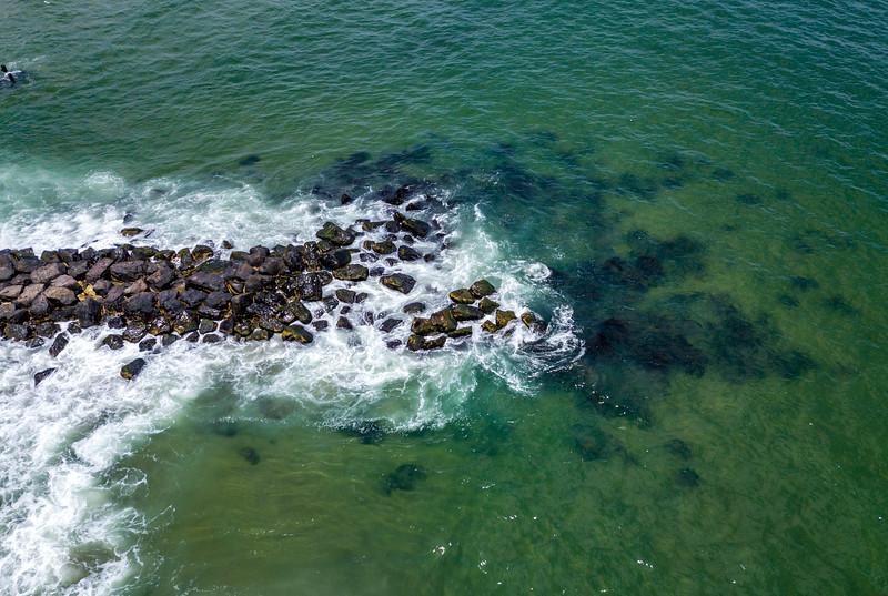 Aerial View Of Ocean Rock Jetty 6/30/20