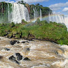 Panoramic view of Iguazu Falls, Brazil