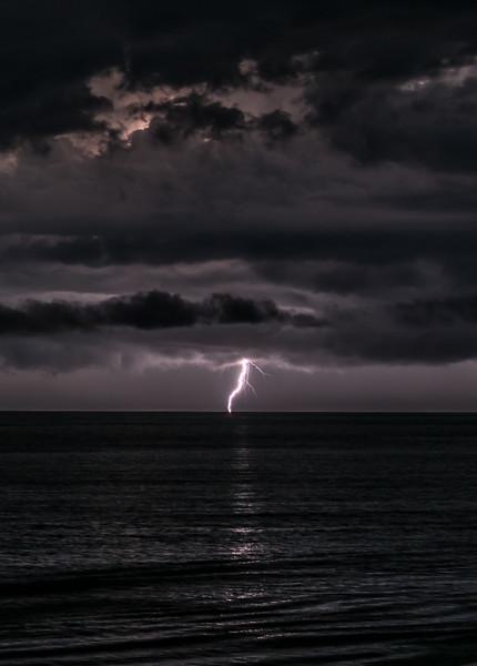 Lightning Strike Over Ocean 8/18/18