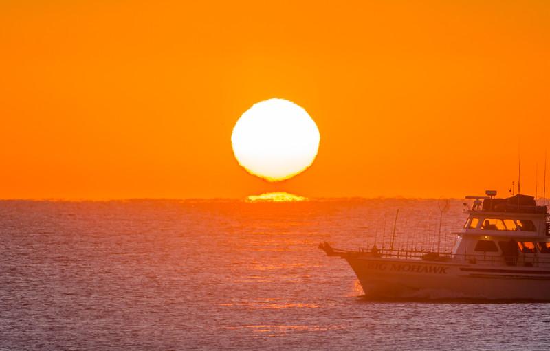 Sun Tearing Away from Horizon, Ocean Grove, NJ