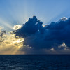 Sun Rays Breaking Through the Clouds, Caribbean