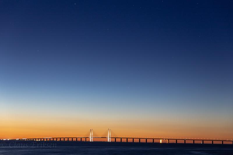 Öresundsbron in the blue hour