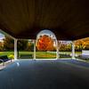 Autumn Colors Through Pillars