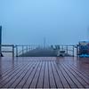 Foggy Morning Over Boardwalk and Pier, Ocean Grove, NJ