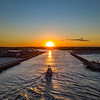 Sunset Over A Fishing Boat Returning To The Manasquan Inlet 6/23/21