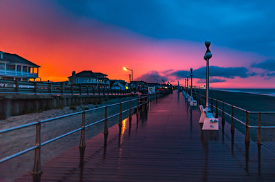 Sunset Colors After Thunderstorm Rolls Through Avon-by-the-Sea 5/15/18