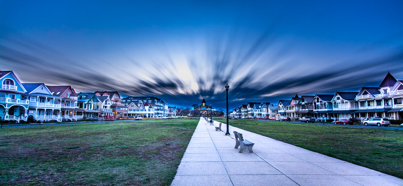 Fast Moving Clouds Over Ocean Grove, NJ 3/25/16