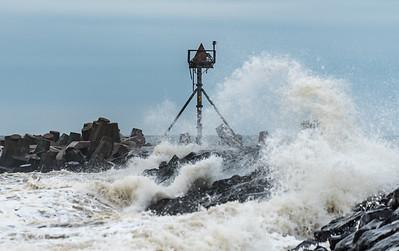 Rough Seas From Hurricane Jose at Manasquan Inlet 9/20/17
