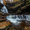 Autumn Waterfall in Rickett's Glen State Park, PA 11/5/18