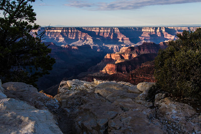 A view from the north rim of the Grand Canyon.