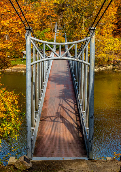 An Autumn Foot Bridge At Bear Mountain 10/22/20