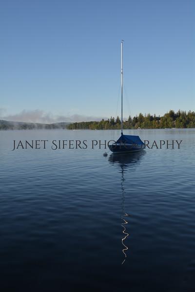 Fog at sunrise on Deep Creek Lake