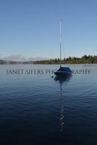 Foggy sunrise on Deep Creek Lake