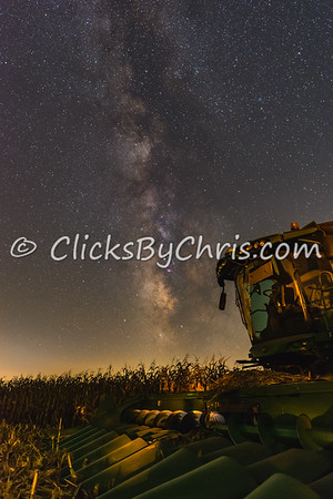 John Deere tractor with the Milky Way behind - Tuesday, Sept. 11, 2018