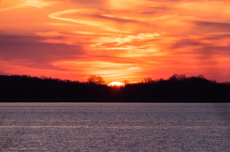 Sunrise Over Manasquan Reservoir 4/13/17