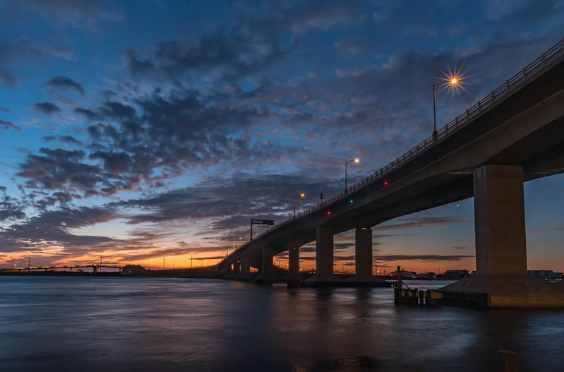 Predawn Colors Over The Highlands Bridge and Navesink River 10/5/17